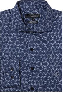 Camisa Dudalina Manga Longa Cetim Estampado Floral Masculina (Estampado, 3)