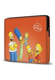 Capa Para Notebook Simpsons Laranja 15 Polegadas
