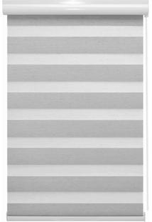 Persiana Rolô Em Poliéster Rainbow Zebra 160X160Cm Branca