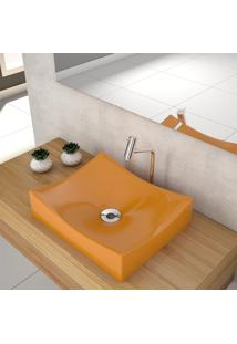Cuba De Apoio Para Banheiro Compace Milla M44W Retangular Amarela