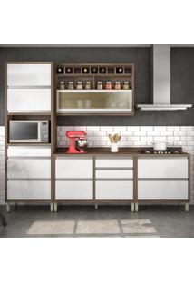 Cozinha Compacta Baronesa 5 Pt 8 Gv Branca E Marrom