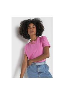 Camiseta Morena Rosa Lisa Rosa