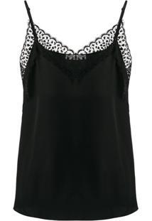 Givenchy Camisola Com Acabamento Em Renda - Preto