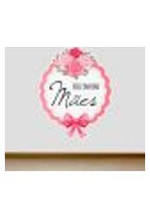 Adesivo De Parede Feliz Dia Das Mães 3 - P 55X44Cm