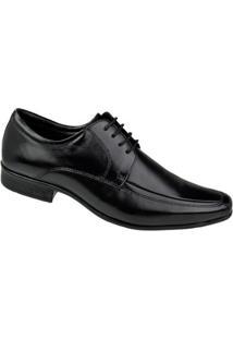 Sapato Social Cadarço Constantino Masculino - Masculino-Preto