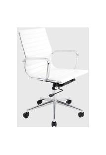 Cadeira Office Sevilha Baixa Branco Rivatti