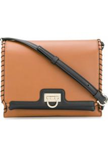 Salvatore Ferragamo Trifolio Flap Shoulder Bag - Marrom