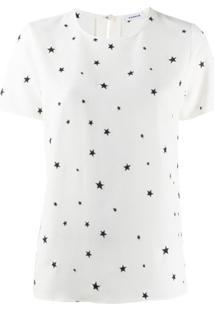 P.A.R.O.S.H. Blusa Mangas Curtas Com Estampa De Estrela - Branco