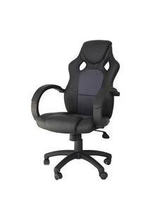 Cadeira Office Racer Preta E Cinza - 27713 Preto E Cinza