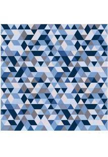 Papel De Parede Geométrico Azul 2404 52Cm X 10M Vinílico Revex