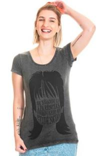 Camiseta Estonada Bloom Evidências Useliverpool Feminina - Feminino-Preto
