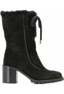 Jimmy Choo Bota Buffy Com Salto 65Mm - Neutro