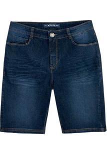 Bermuda Jeans Masculina Slim Em Algodão