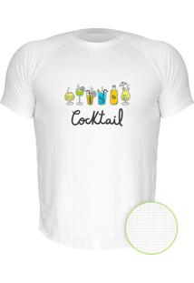 Camiseta Manga Curta Nerderia Cocktail Branco
