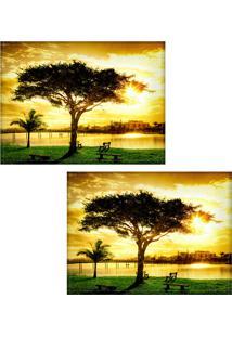 Jogo Americano Colours Creative Photo Decor - Árvore - 2 Peças