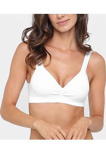 Sutiã Trifil Top Com Bojo Daily T-Shirt - Feminino-Branco
