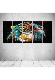 Quadro Decorativo - Color Monkey - Composto De 5 Quadros - Multicolorido - Dafiti