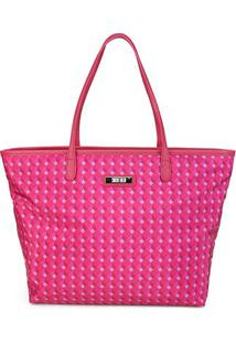 Bolsa Santa Lolla Shopper Nylon Cubos Feminina - Feminino-Pink