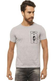 Camiseta Manga Curta Joss Zueira Masculina - Masculino-Cinza