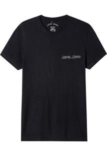 Camiseta John John Rx John Tape Malha Algodão Preto Masculina (Preto, G)