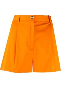 Versace High-Waisted Shorts - Laranja