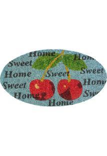 Capacho Sweet Home- Vermelho & Azul- 70X40Cm- Agagi Tapetes
