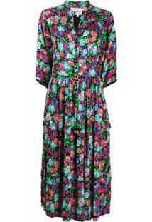 Ba&Sh Vestido Midi Com Estampa Floral - Verde