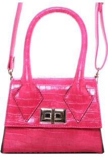Bolsa Birô Croco Fashionista Feminina - Feminino-Pink