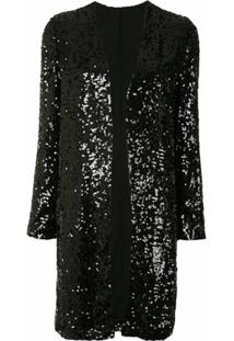 Lapointe Sequin Duster Coat - Preto