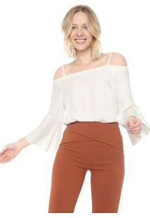 Blusa Ciganinha Mercatto Básica Off-White