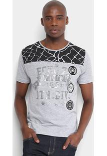 Camiseta Ecko Estampada Masculina - Masculino-Mescla