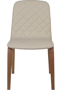 Cadeira Lari - Couro Bege