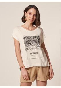 Camiseta Mob T-Shirt Feminina - Feminino-Bege