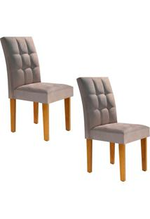 Conjunto Com 2 Cadeiras Vitória Ypê E Bege