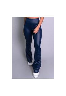 Calça Feminina Mvb Modas Flare Pantalona Cirrê Azul