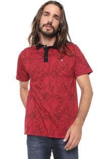 Camisa Polo Hurley Reta Only P Vermelha/Preta