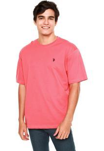 Camiseta U.S. Polo Bordado Coral