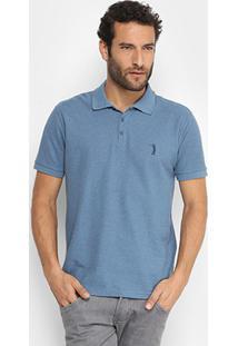... Camisa Polo Aleatory Lisa Gola Jacquard Masculina - Masculino-Azul Claro f0d89c49d90