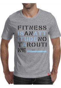 Camiseta Casual Sport Atitude Cinza