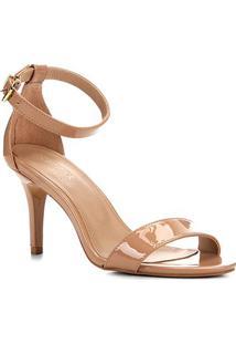 Sandalia Shoestock Salto Alto Naked Feminina - Feminino-Noz