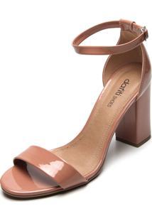 Sandália Dafiti Shoes Verniz Nude