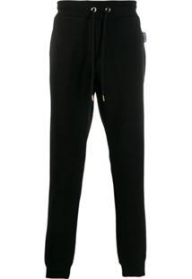 Versace Jeans Couture Calça Esportiva Com Cordão De Ajuste - Preto