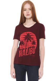 Camiseta Calvin Klein Jeans Malibu Bordô