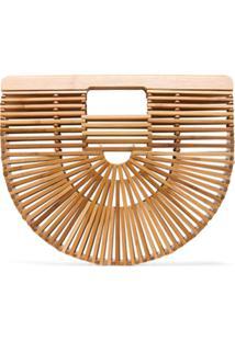 Cult Gaia Clutch 'Ark' Pequena De Bambu - Neutro