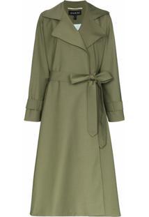 Anouki Trench Coat Leve Com Cinto - Verde
