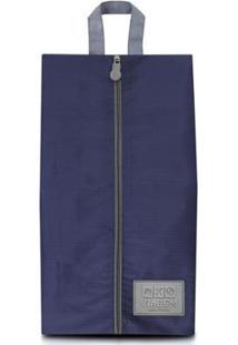 Bolsa Jacki Design Porta Sapato De Poliéster - Unissex-Azul