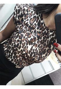 Blusa Leopardo Feminina