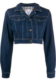 Moschino Jaqueta Jeans Com Bordado 'Teddy Bear' - Azul