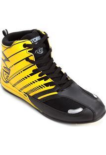 Tênis Pretorian Striker Masculino - Masculino-Preto+Amarelo