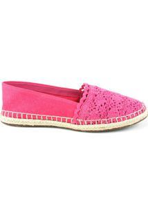 Tênis Feminino Milano Croche Pink/Lona Pink 8372